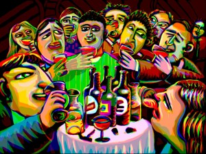 Gang of Pour Painting by Stephen Goodfellow - goodfelloweb.com