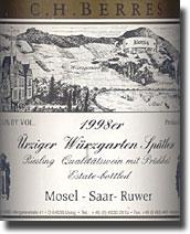 1998 C. H. Berres Urziger Wurzgarten Riesling Spatlese
