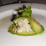 Crab and Avocado - almond infused crab salad