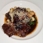 Veal Cheeks - Parisian Herb & Ricotta Cheese Gnocchi. Wilted Spinach, Tomato