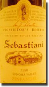 1980 Sebastiani Sonoma Zinfandel