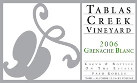 Tablas Creek grenacheblanc06_label