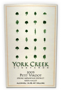 York Creek Petit Verdot