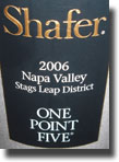 Shafer One Point Five Cabernet