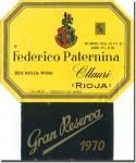 1970 Frederico Paternina Rioja Gran Reserva