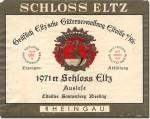 1971 Schloss Eltz Eltviller Sonnenberg Riesling Auslese Rheingau