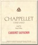 1973 Chappellet Napa Cabernet Sauvignon