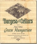 1975 Burgess Cellars Napa Green Hungarian