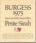 1975 Burgess Cellars Napa Petite Sirah