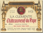 1975 Jean Pouttier Chateauneuf du Pape La Clemente