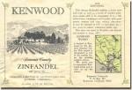 1975 Kenwood Sonoma Zinfandel