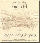 1976 Joseph Phelps Alexander Valley Zinfandel