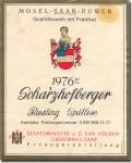 1976 Scharzhofberger Riesling Spatlese Mosel Saar Ruwer