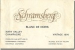 1976 Schramsberg Napa Blanc de Noirs