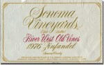 1976 Sonoma Vineyards Sonoma Zinfandel River West Old Vines