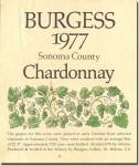 1977 Burgess Cellars Sonoma Chardonnay