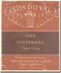 1977 Clos du Val Napa Zinfandel