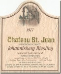 1977 Chateau St. Jean Mendocino Johannisberg Riesling Select Late Harvest March Vineyards