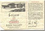 1978 Fetzer Mendocino Zinfandel Lolonis
