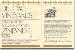 1979 DeLoach Sonoma Zinfandel Estate