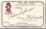 1979 Scharzhofberger Riesling Kabinett Mosel Saar Ruwer
