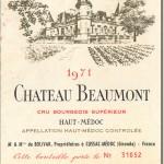1971 Château Beaumont Haut Medoc