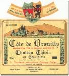 1979 Chateau Thivin Cote de Brouilly